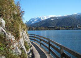 Der Weg am See entlang nach Fürberg
