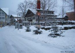 Das Dorf im Schnee