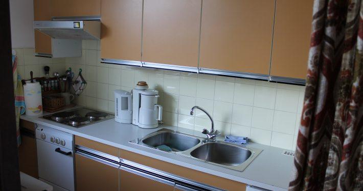Die Küche isgut ausgestattet